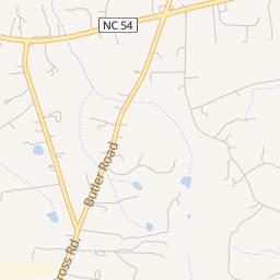 Chapel Hill North Carolina Map on